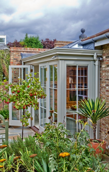 Timber orangery garden room