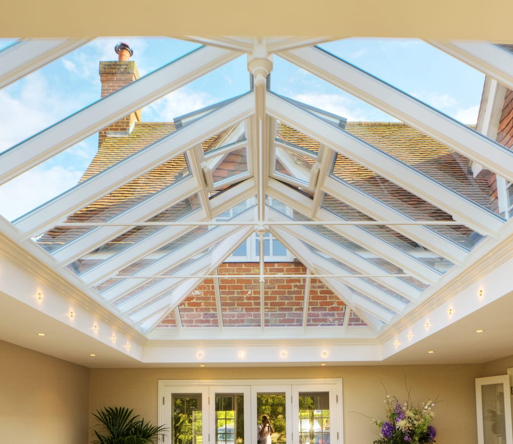 Large timber roof lantern