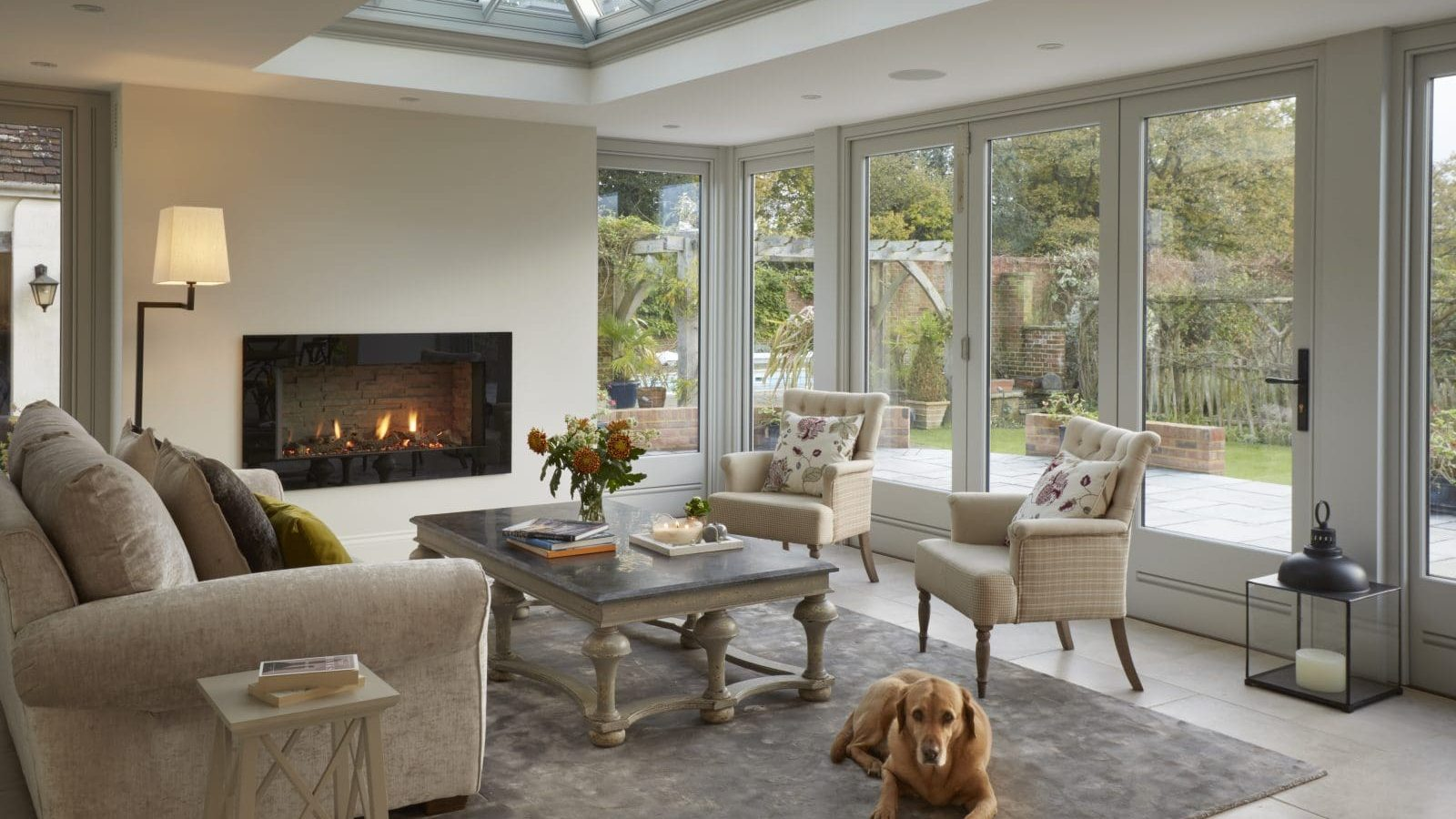 Client testimonial: beautiful timber orangery with fireplace
