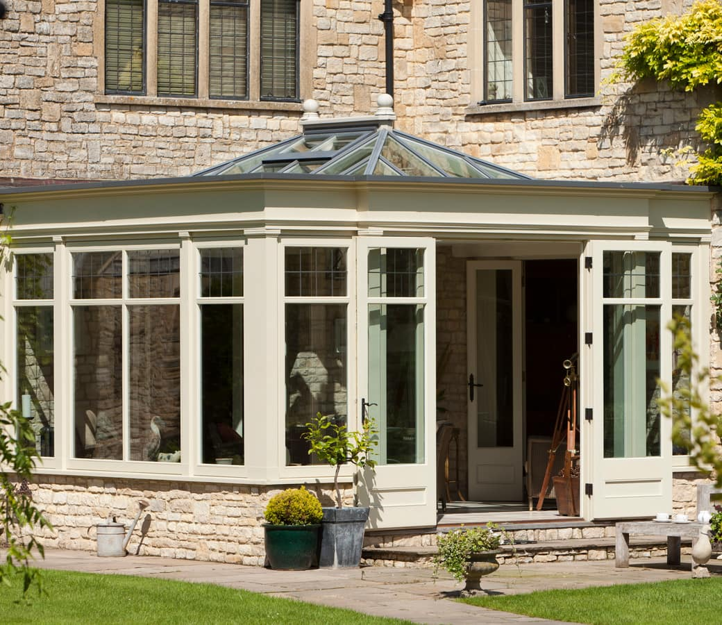 Large Orangery with open doors