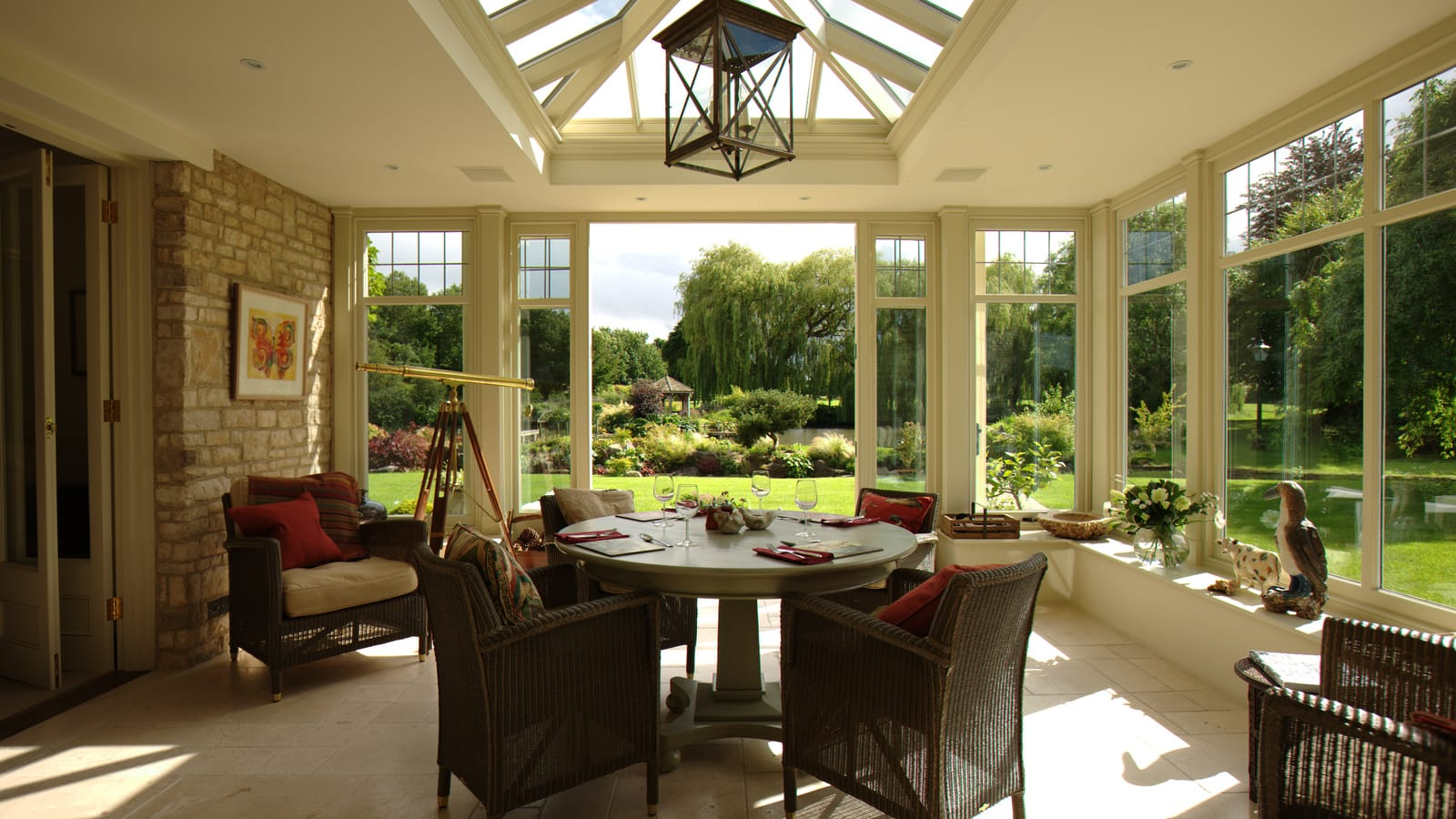 Orangery with landscape garden views