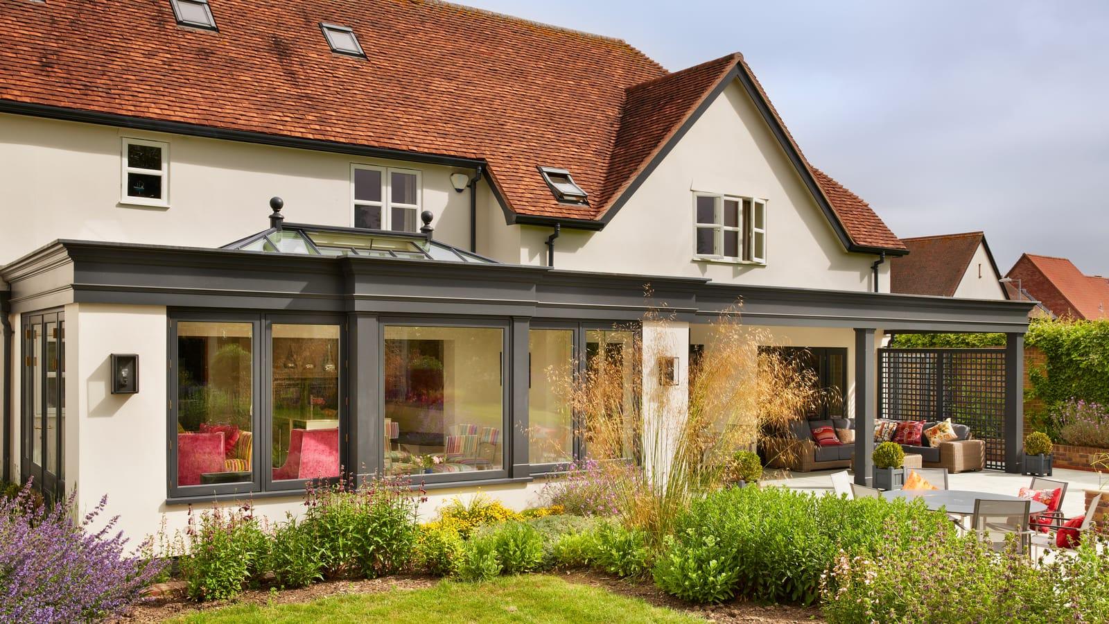 Exterior of stunning Westbury Black Orangery