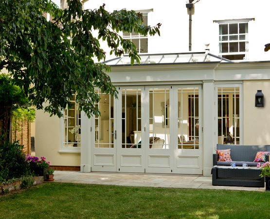 Orangery with closed doors