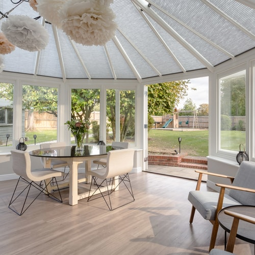 Conservatory with Ashdown Fair Porcelain Matt Floor Tiles
