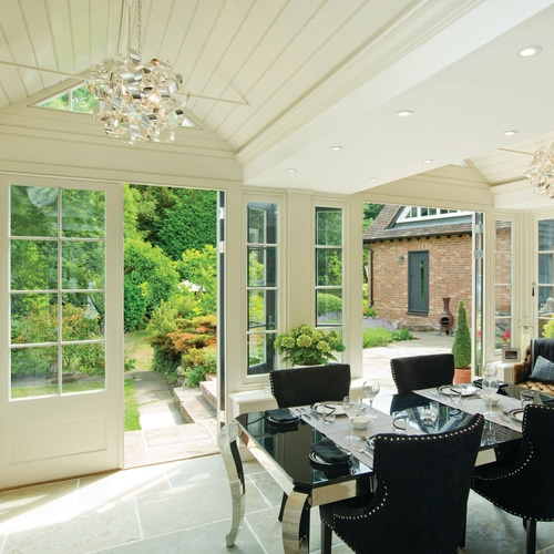 Orangery with Hawkmoor-Limestone-Seasoned-Stone-Floor-Tiles