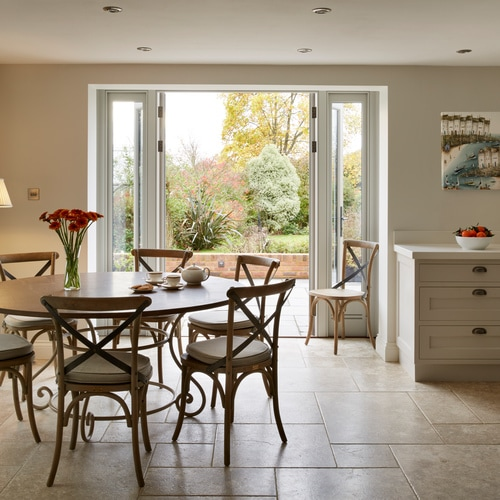 Orangery with Lymington-Fair-Limestone-Tumbled-Stone-Floor-Tiles