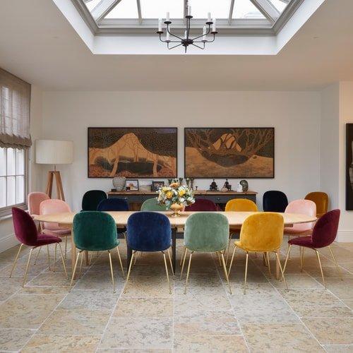 Orangery-Dining-Area-Medieval-Mâcon-Limestone-Weathered-Stone-Flooring