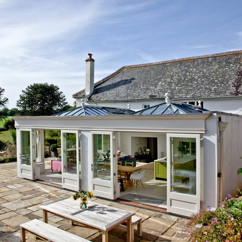 Large Orangery with double lantern roof