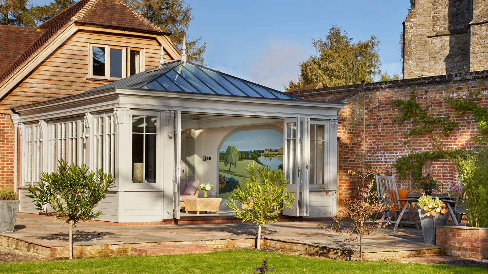 stunning orangery on country home