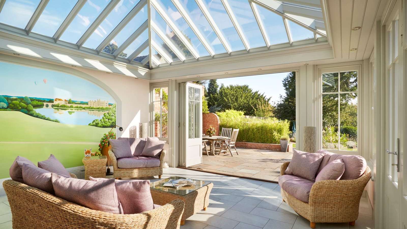 orangery with seating area