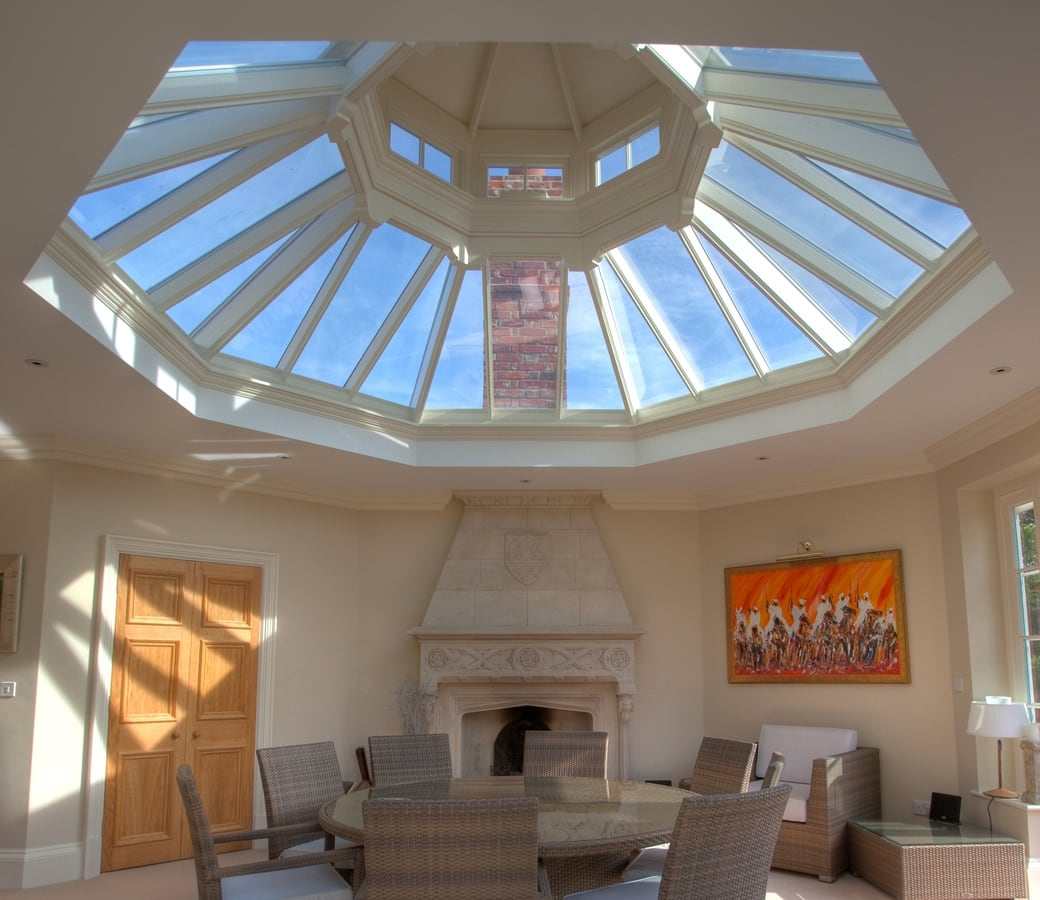 Westbury Gardens Winter: Spectacular Orangery With Cupola Roof Lantern