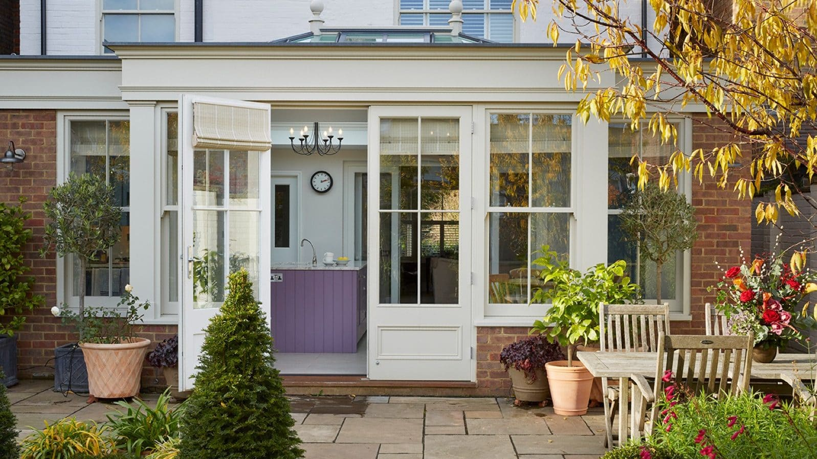 Client testimonial: spacious kitchen orangery with garden views