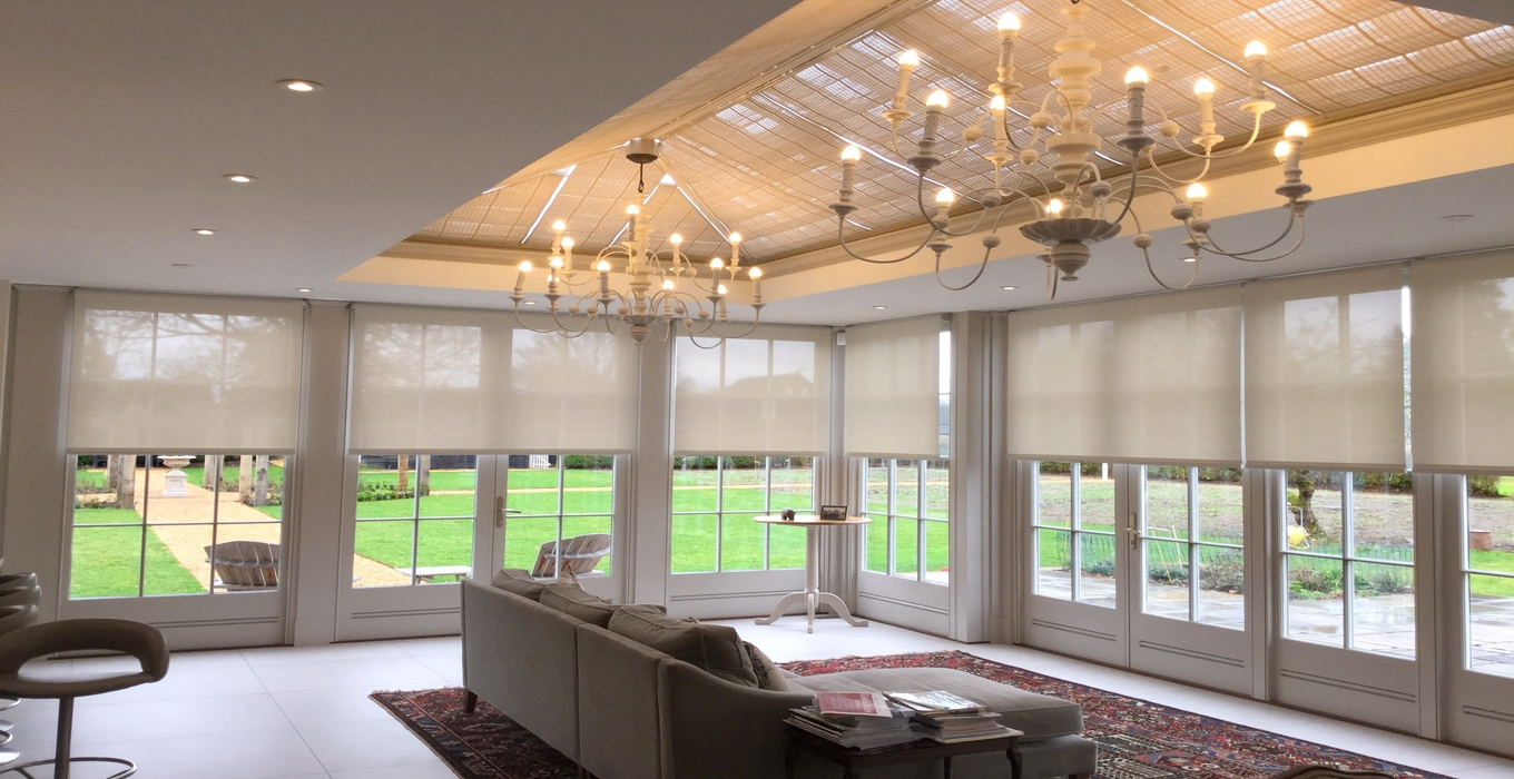 Choosing blinds for your orangery or garden room