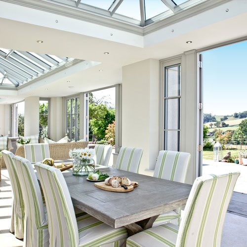 Timber Orangery with Roof Lanterns