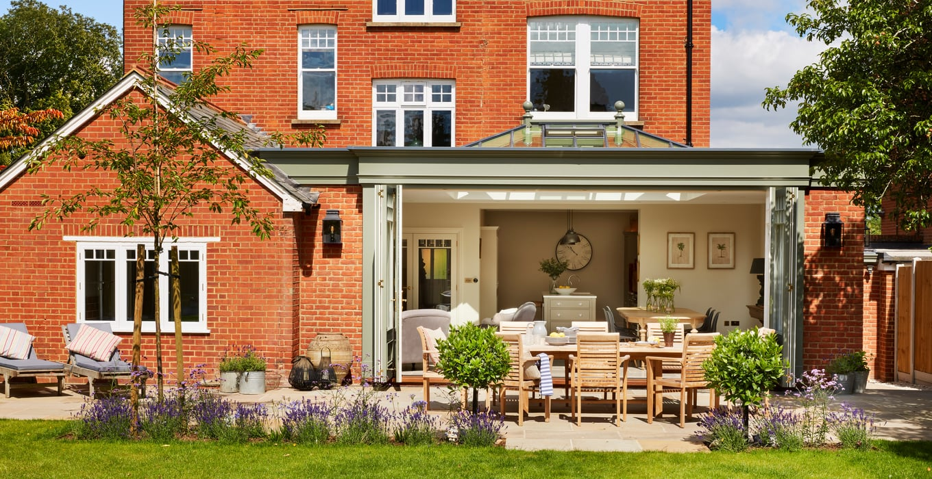 A Sleek Orangery for a Victorian Family Home