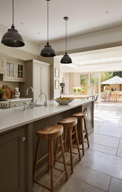 Kitchen area in orangery