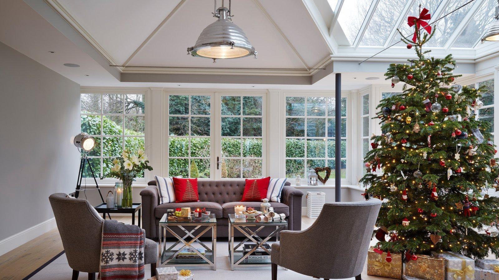Garden Room Decorated for the Festive Season