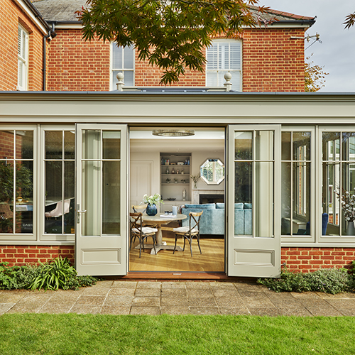 Charming family residence beautifully modernised with a kitchen-diner orangery