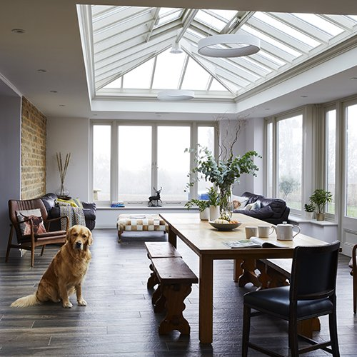 A countryside orangery extension full of character