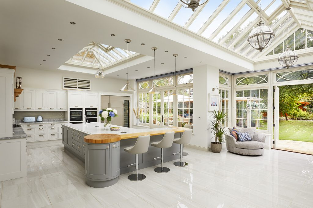 an exampled of a traditional orangery, modernising a home.